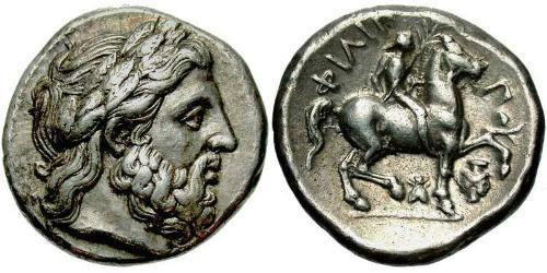 1 Tetradrachm Macedonian Kingdom (800BC-146BC) Silver Philip II of Macedon (382 BC - 336 BC)