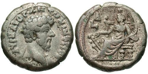 1 Tetradrachm Roman Empire (27BC-395) Silver Marcus Aurelius (121-180)