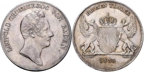 1 Thaler 巴登大公國 (1806 - 1918) 銀 利奥波德 (巴登)