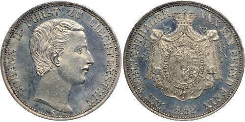 1 Thaler Liechtenstein 銀 Johann II, Prince of Liechtenstein (1840-1929)