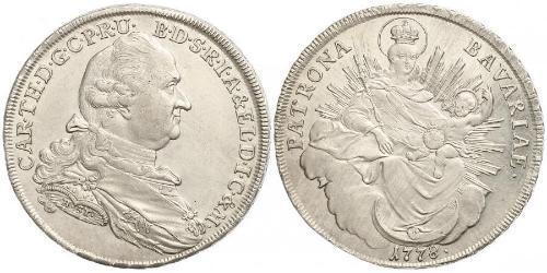 1 Thaler Électorat de Bavière (1623 - 1806) Argent Charles Théodore de Bavière (électeur) (1724 - 1799)