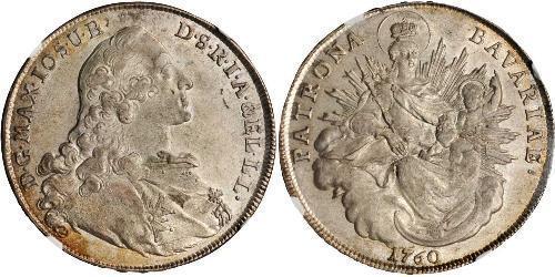 1 Thaler Électorat de Bavière (1623 - 1806) Argent Maximilien III Joseph de Bavière(1727 – 1777)