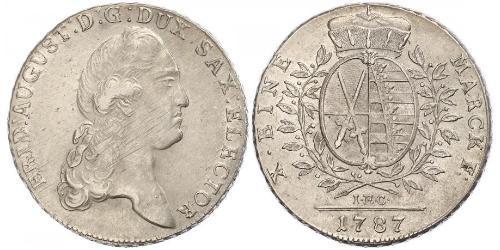 1 Thaler Électorat de Saxe (1356 - 1806) Argent Auguste II (1670 - 1733)