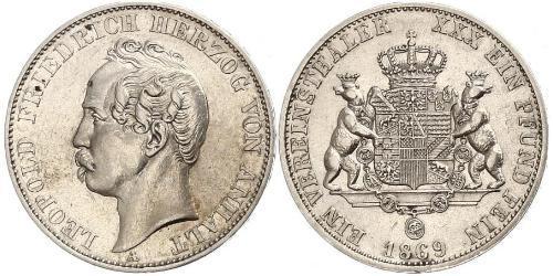 1 Thaler Anhalt-Dessau (1603 -1863) Argent Léopold IV d
