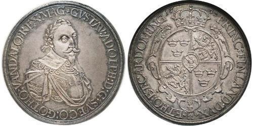 1 Thaler Augsbourg (1276 - 1803) Argent Gustave II Adolphe de Suède( – 1632)