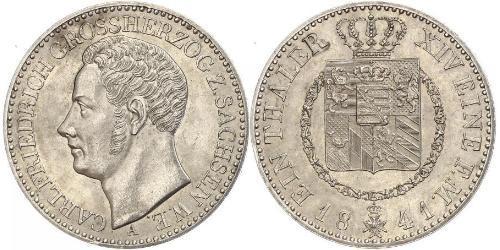 1 Thaler Grand-duché de Saxe-Weimar-Eisenach (1809 - 1918) Argent Charles-Frédéric de Saxe-Weimar-Eisenach