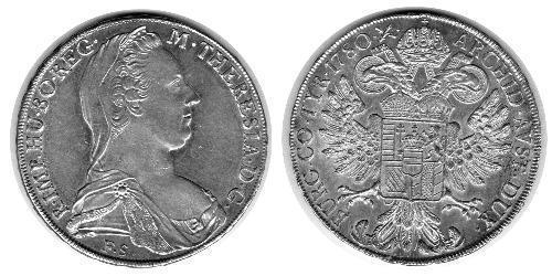 1 Thaler Habsburg Empire (1526-1804) Argent Maria Theresa of Austria (1717 - 1780)