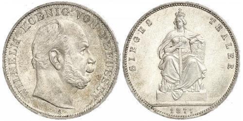 1 Thaler Royaume de Prusse (1701-1918) Argent Wilhelm I, German Emperor (1797-1888)