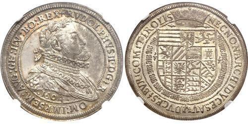 1 Thaler Saint-Empire romain germanique (962-1806) Argent Rodolphe II du Saint-Empire (1552 - 1612)