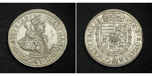 1 Thaler Saint-Empire romain germanique (962-1806) Argent Ferdinand II du Saint-Empire(1578 -1637)