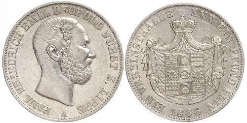 1 Thaler Lippe (1123 - 1918) Argento Leopoldo III di Lippe