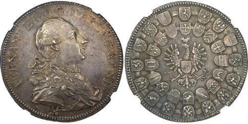 1 Thaler Principato di Ansbach (1398–1792) Argento Cristiano Federico di Brandeburgo-Ansbach(1736 – 1806)