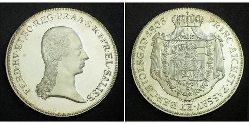 1 Thaler Salisburgo Argento Ferdinand III, Holy Roman Emperor (1608-1657)
