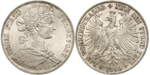 1 Thaler Alemania / States of Germany Plata