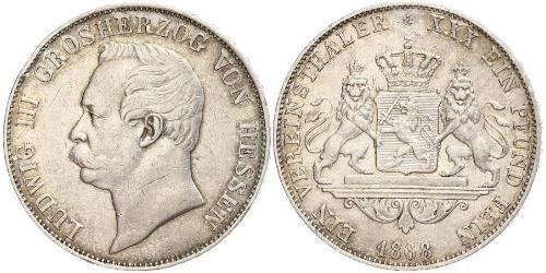 1 Thaler Hesse-Darmstadt (1806 - 1918) Plata