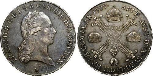 1 Thaler Países Bajos Austríacos (1713-1795) Plata Francis II, Holy Roman Emperor (1768 - 1835)