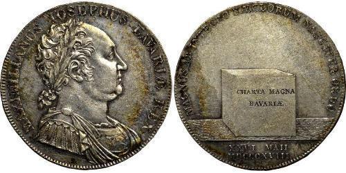 1 Thaler Reino de Baviera (1806 - 1918) Plata Maximiliano I de Baviera (1756 - 1825)
