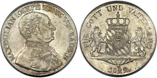 1 Thaler Reino de Baviera (1806 - 1918) Plata