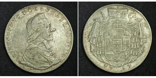 1 Thaler Salzburgo Plata Hieronymus von Colloredo (1732 - 1812)
