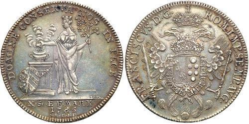 1 Thaler States of Germany Plata