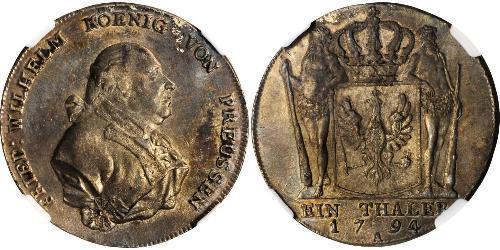 1 Thaler Königreich Preußen (1701-1918) Silber Friedrich Wilhelm II. (Preußen)