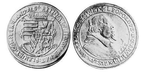 1 Thaler Alsace Silver Leopold V, Archduke of Austria (1586 – 1632)