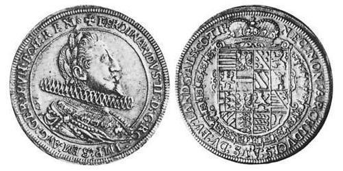 1 Thaler Alsace Silver Ferdinand II, Archduke of Austria (1529 – 1595)