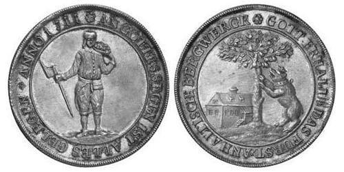 1 Thaler Anhalt-Bernburg (1603 - 1863) Silver Victor Amadeus, Prince of Anhalt-Bernburg (1634 – 1718)