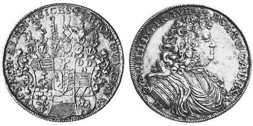1 Thaler Anhalt-Harzgerode (1635–1709) Silver