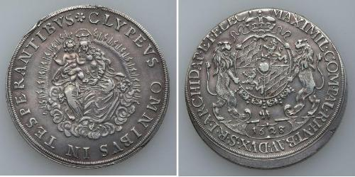 1 Thaler Electorate of Bavaria (1623 - 1806) Silver Maximilian I, Elector of Bavaria (1573 – 1651)