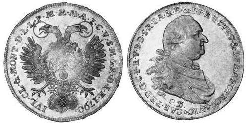1 Thaler Electorate of Bavaria (1623 - 1806) Silver