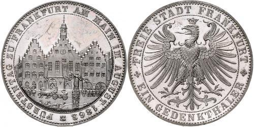 1 Thaler Free City of Frankfurt Silver