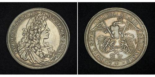 1 Thaler Habsburg Empire (1526-1804) Silver Leopold I, Holy Roman Emperor (1640-1705)