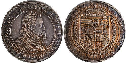 1 Thaler Holy Roman Empire (962-1806) Silver Rudolf II, Holy Roman Emperor (1552 - 1612)