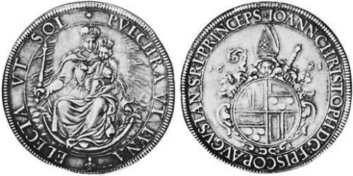 1 Thaler Imperial City of Augsburg (1276 - 1803) Silver Johann Christoph von Freyberg-Allmendingen (1616–1690)