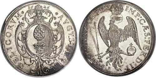 1 Thaler Imperial City of Augsburg (1276 - 1803) Silver Ferdinand II, Holy Roman Emperor  (1578 -1637)