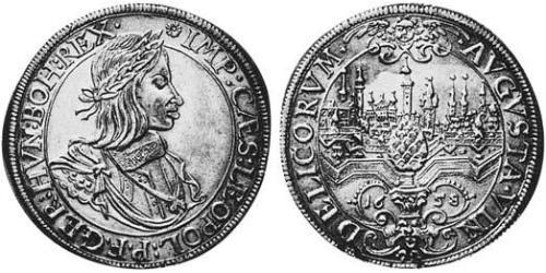 1 Thaler Imperial City of Augsburg (1276 - 1803) Silver Leopold I, Holy Roman Emperor (1640-1705)