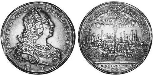 1 Thaler Imperial City of Augsburg (1276 - 1803) Silver Charles VII, Holy Roman Emperor (1697 – 1745)