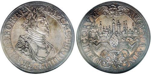 1 Thaler Imperial City of Augsburg (1276 - 1803) Silver Ferdinand III, Holy Roman Emperor (1608-1657)