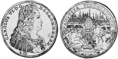1 Thaler Imperial City of Augsburg (1276 - 1803) Silver Charles VI, Holy Roman Emperor (1685-1740)