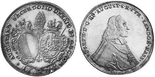 1 Thaler Imperial City of Augsburg (1276 - 1803) Silver Joseph Ignaz Philipp von Hessen-Darmstadt (1699–1768)