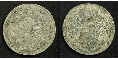 1 Thaler Kingdom of Hungary (1000-1918) Silver Maria Theresa of Austria (1717 - 1780)