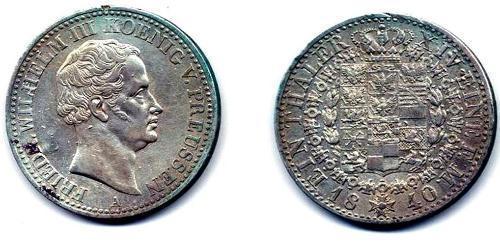 1 Thaler Kingdom of Prussia (1701-1918) Silver