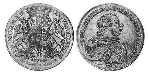 1 Thaler Margrave of Baden-Durlach (1535 - 1771) Silver