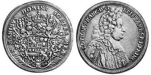 1 Thaler Prince-Bishopric of Bamberg (1245–1802) Silver