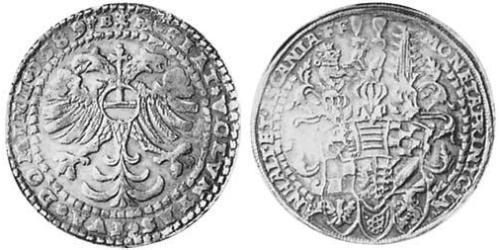 1 Thaler Principality of Anhalt (1212 - 1806) Silver