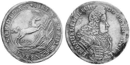 1 Thaler Principality of Anhalt-Köthen (1603 -1853) Silver