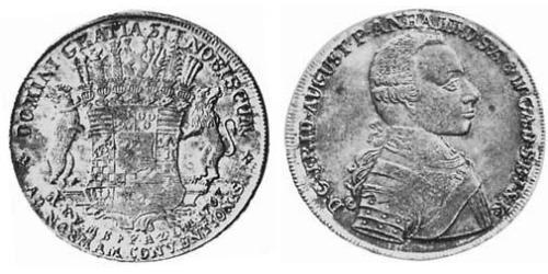 1 Thaler Principality of Anhalt-Zerbst (1544 - 1796) Silver Frederick Augustus, Prince of Anhalt-Zerbst (1734 – 1793)