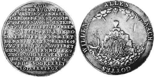 1 Thaler Principality of Anhalt-Zerbst (1544 - 1796) Silver Karl, Prince of Anhalt-Zerbst (1652 – 1718)
