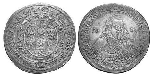 1 Thaler Principality of Ansbach (1398–1792) Silver Joachim Ernst, Margrave of Brandenburg-Ansbach (1583 – 1625)